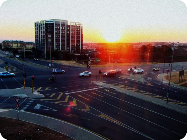 Sunset from Midrand Gautrain Station