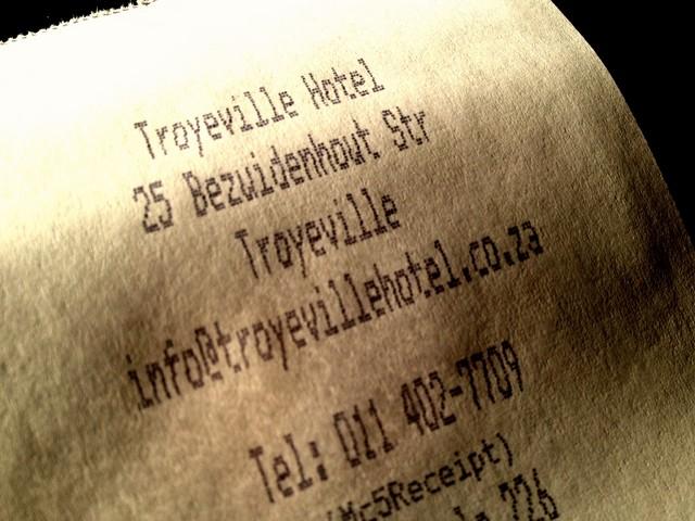 Troyeville Receipt