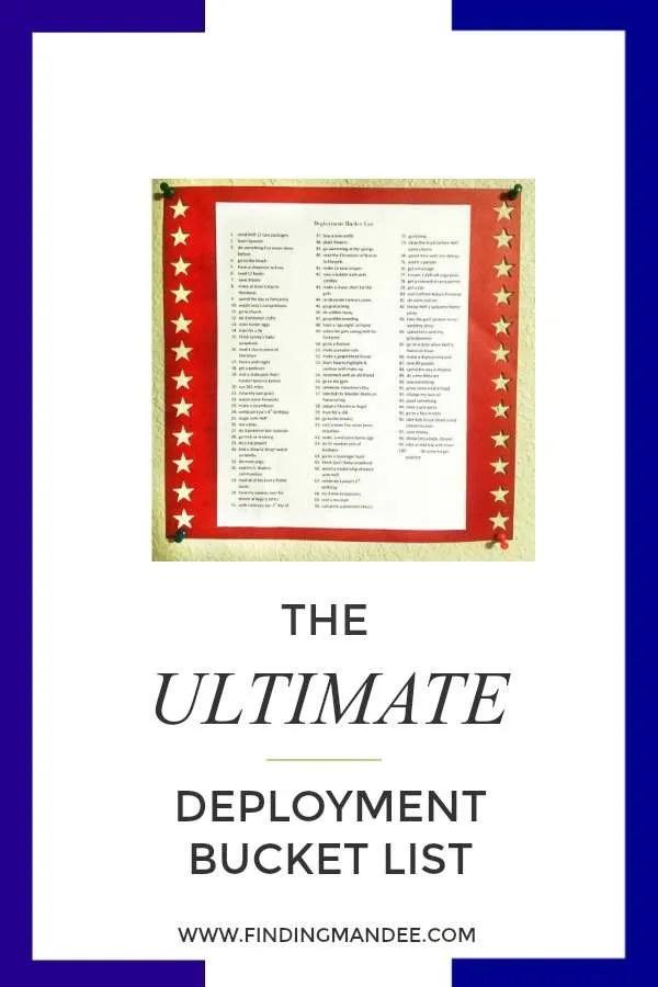 The Ultimate Deployment Bucket List | Finding Mandee