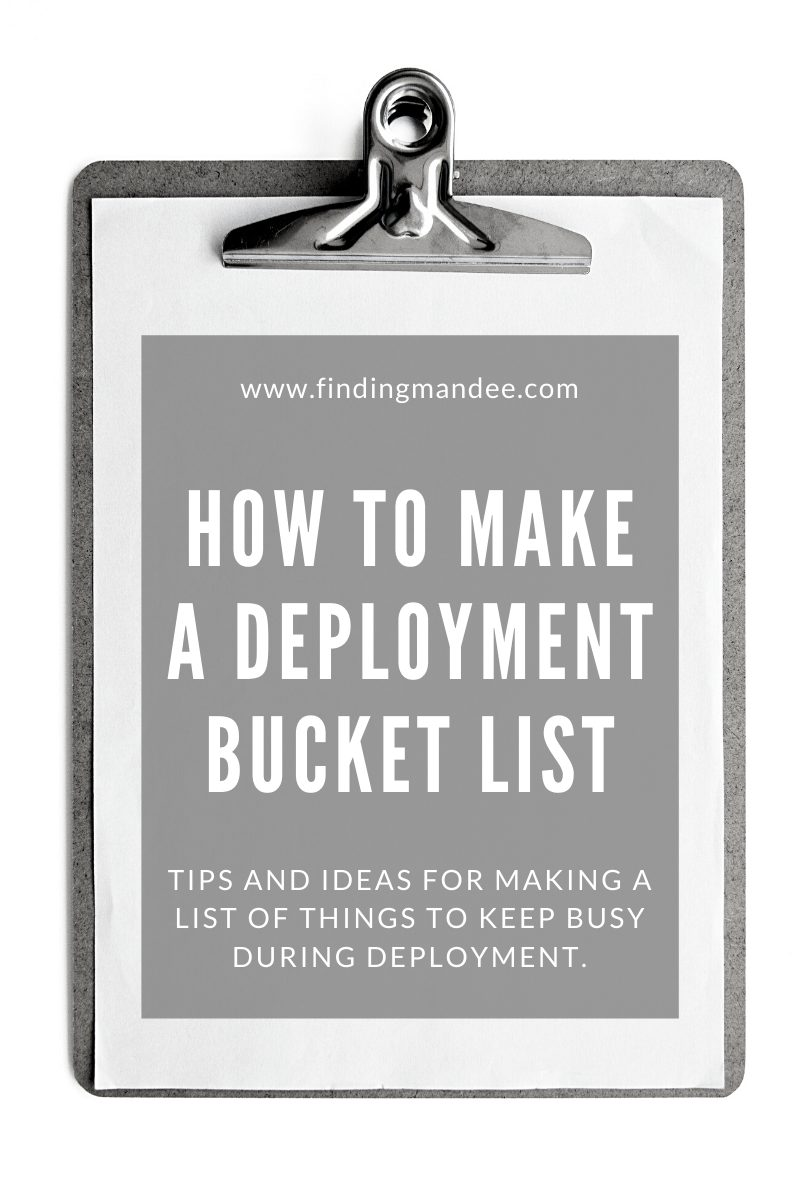 How to Write a Deployment Bucket List | Finding Mandee