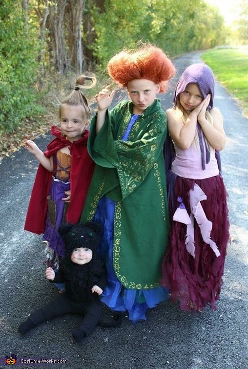 the Sanderson sisters from Hocus Pocus Halloween costumes