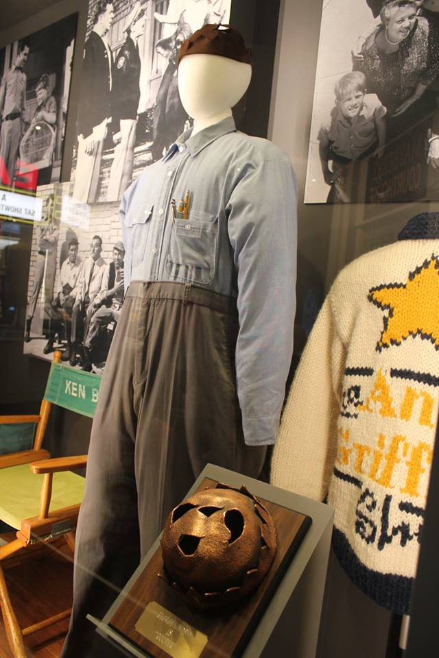 Goober Pyle's hat and clothes at the Andy Griffith Museum