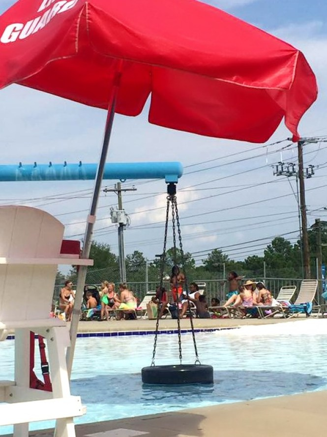 Where to swim near Fort Bragg: the tire swing at Chalmer's Pool in Fayetteville.