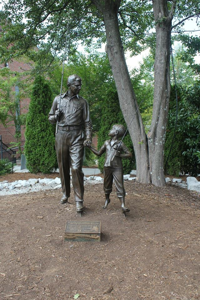 Andy and Opie statue in Mount Airy, NC
