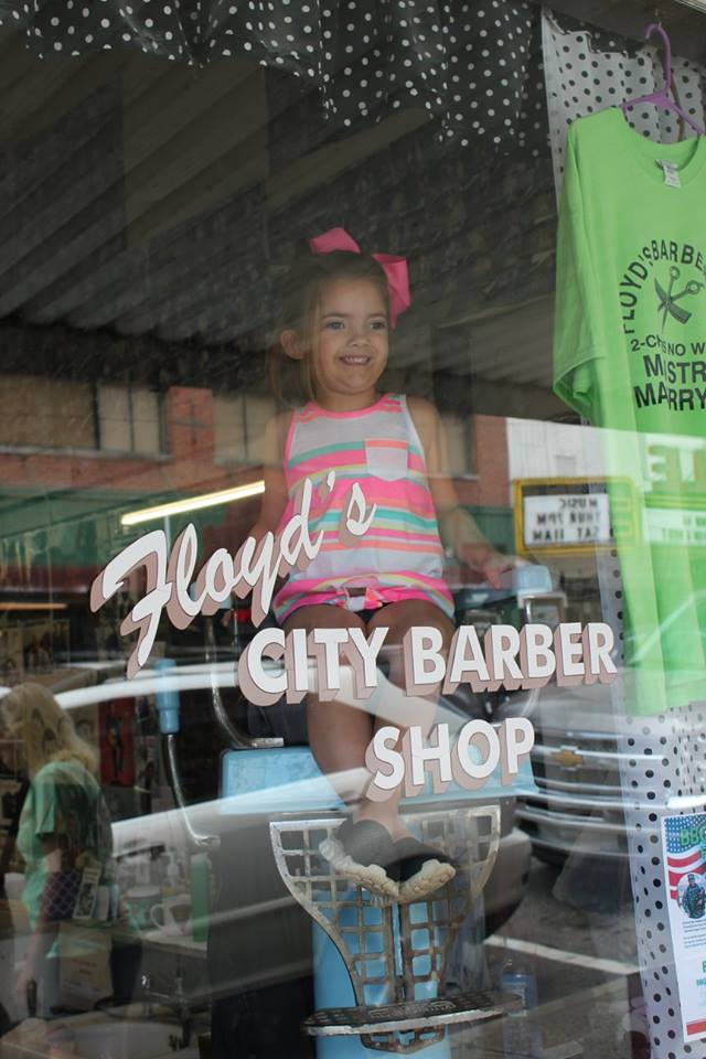 Floyd's City Barber Shop in Mount Airy, North Carolina.