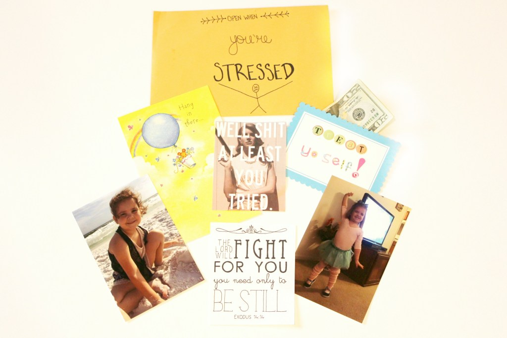 open when letters: open when you are stressed