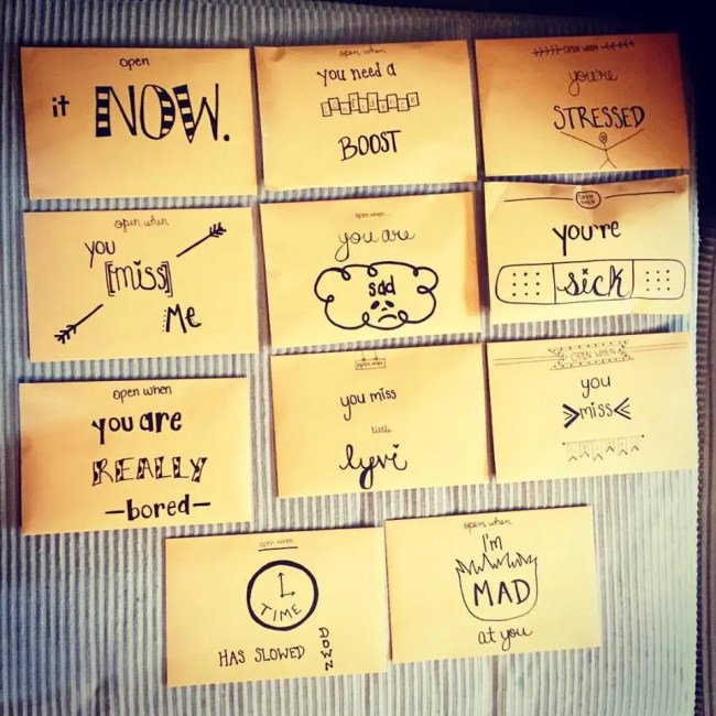 ideas for open when letters