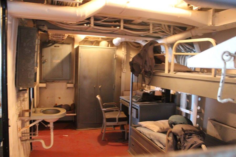 living quarters on the USS Alabama