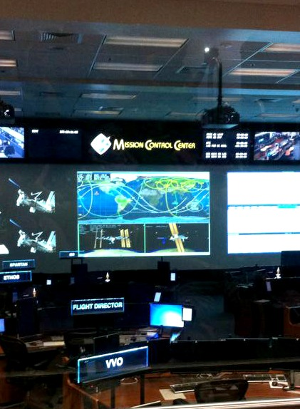 Mission Control at NASA Space Center in Houston