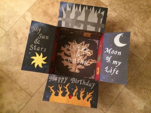 Game of Thrones birthday care package idea