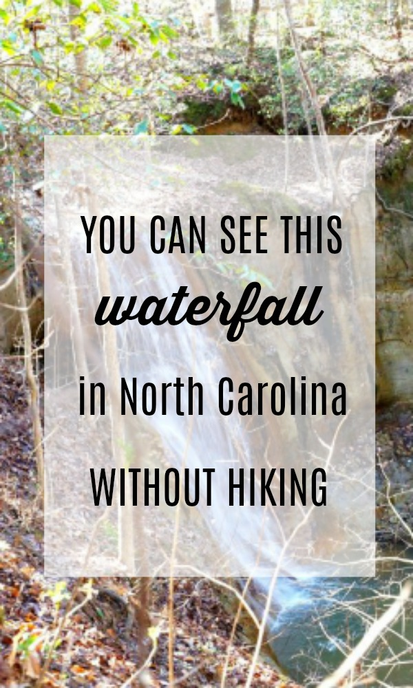 You can see this waterfall in North Carolina without hiking.