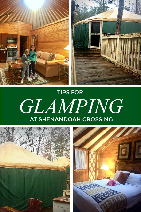 tips for glamping in a yurt at Shenandoah Crossing