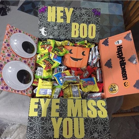 Halloween Care Package Ideas: Eye Miss You!