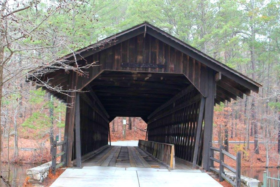 Things to do at Stone Mountain, GA: See the covered bridge.