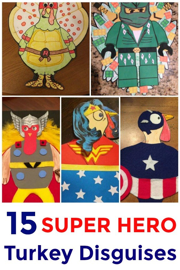 12 Super Hero Turkey Disguises