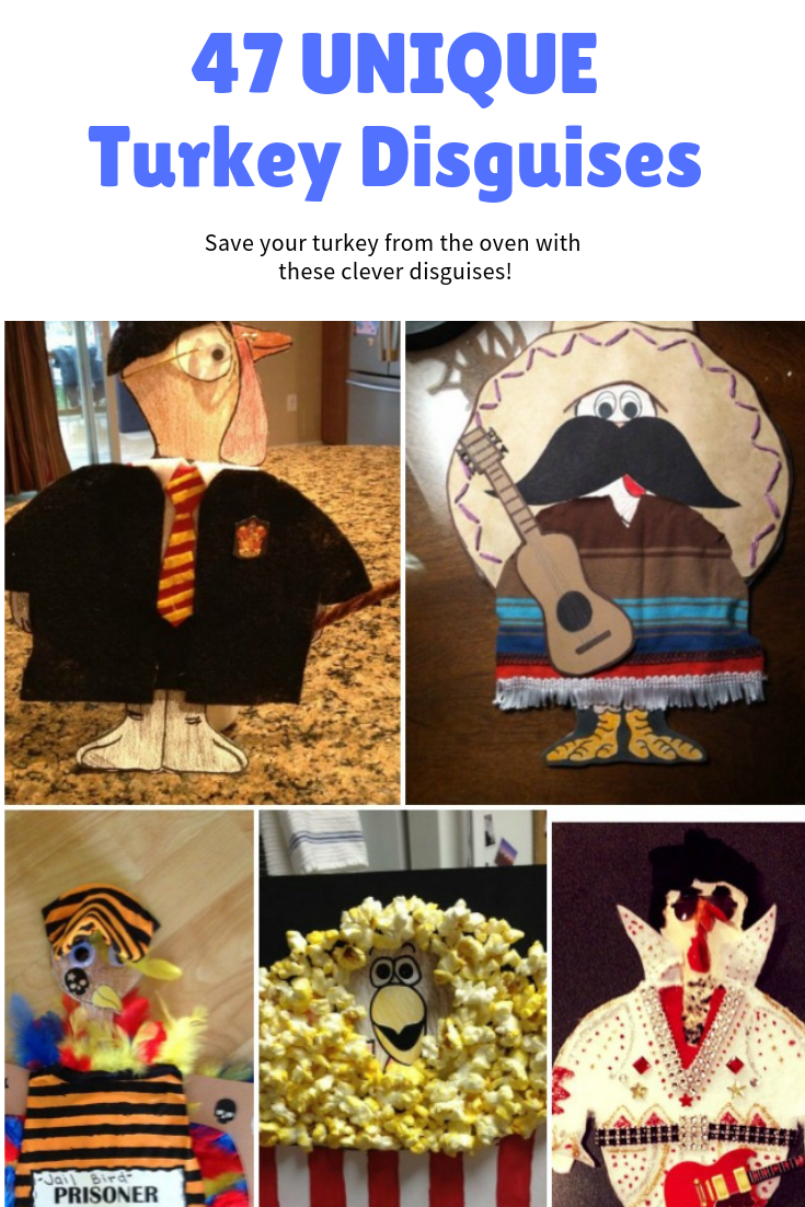 Save your turkey from the oven with these unique turkey disguises!