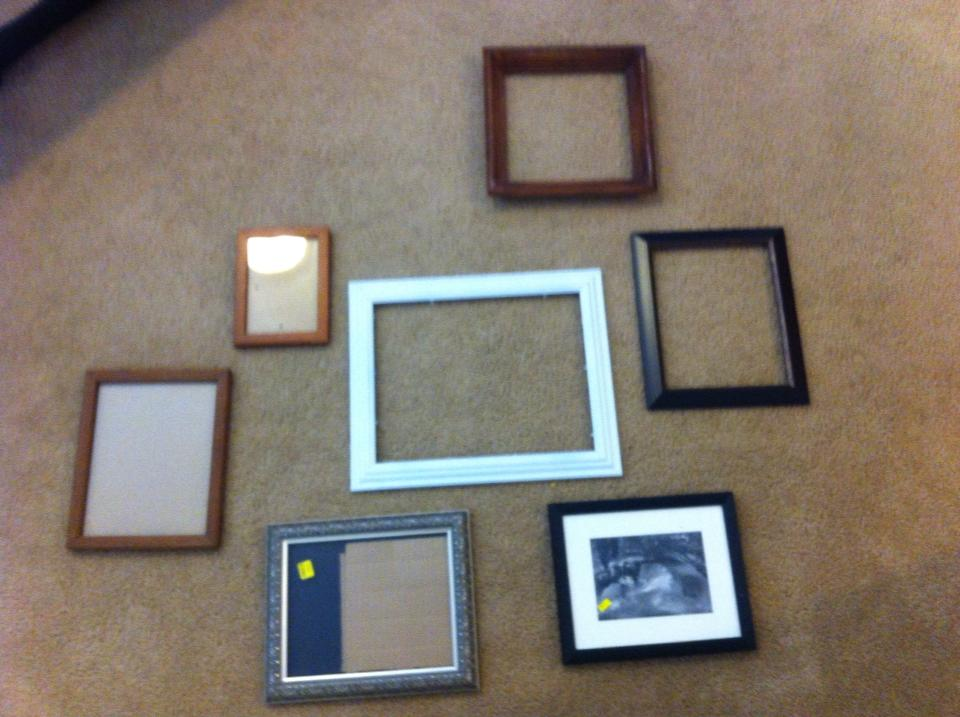 DIY Projects: The cork board collage before picture.