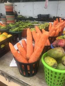 Fresh produce for sale at the Bragg Blvd Flea Market in North Carolina.
