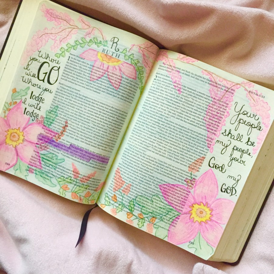 One of my favorite art pieces in my journaling Bible.