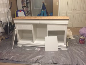 After a coat of paint on the buffet.