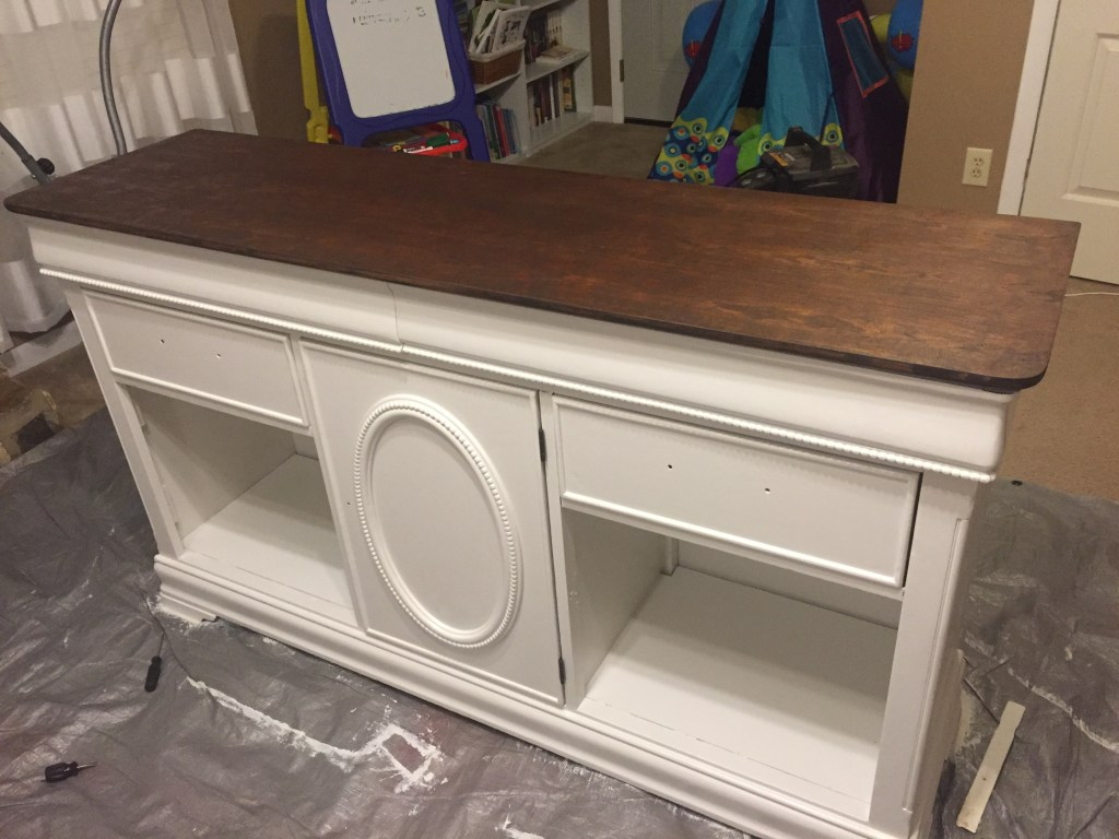 The farmhouse buffet after painting.