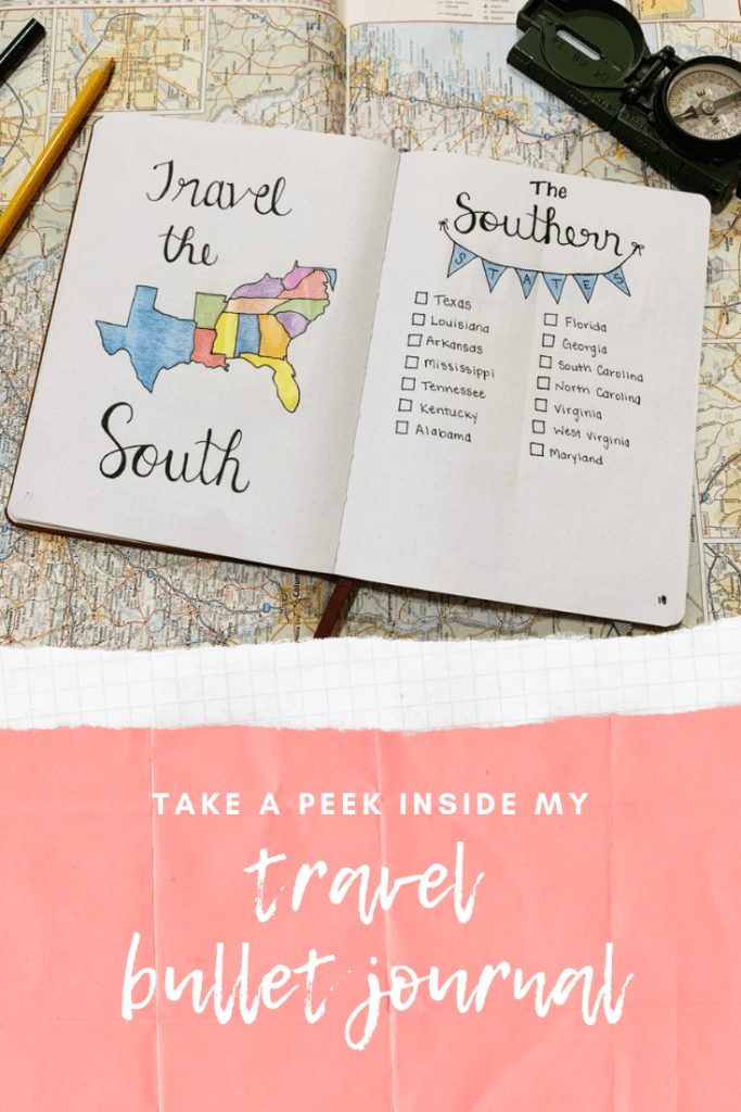 Take a peek inside my travel bullet journal. | Finding Mandee