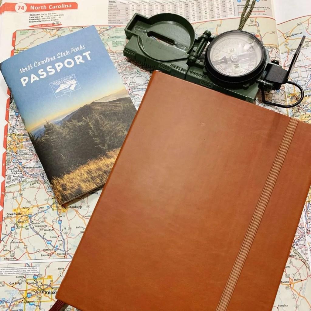 A peek inside my Travel Bullet Journal.