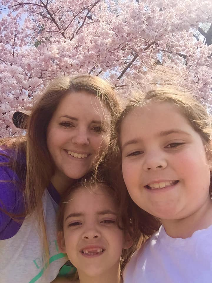 The girls loved seeing the cherry blossoms almost as much as I did!