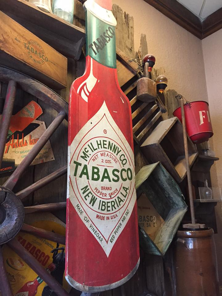 Display at the Tobasco Factory on Avery Island in Louisiana. | Finding Mandee