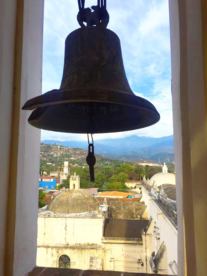 The view from the belfry at the Comayagua Cathedral.