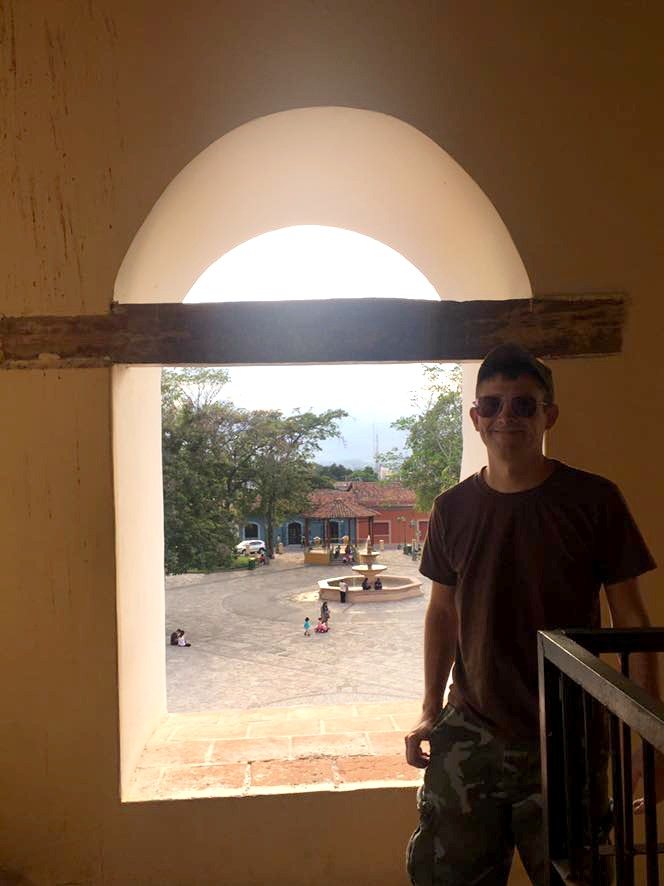In the bell tower of the Comayagua Cathedral.
