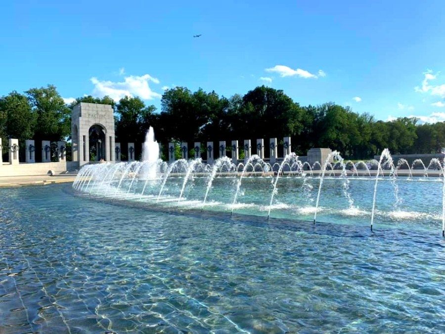 The WWII Memorial in the National Mall in Washington D.C.