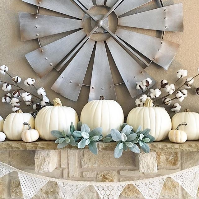Inspiration for fall mantel.