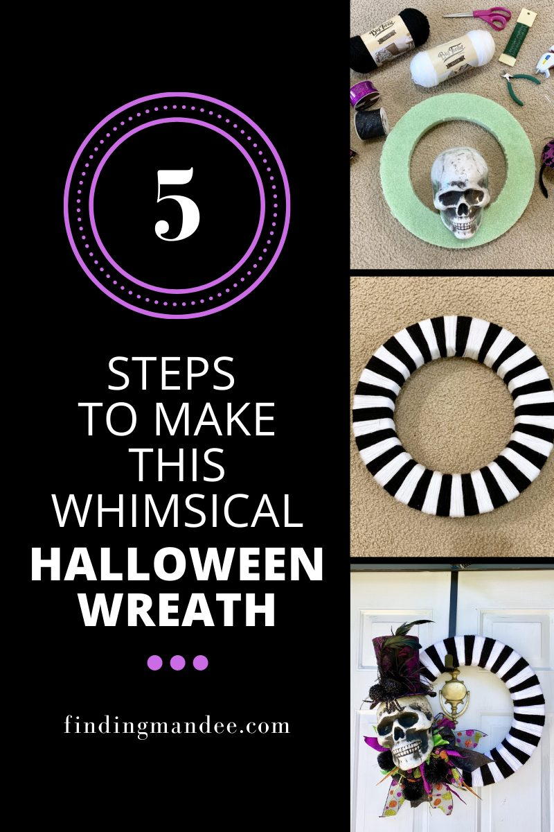 5 Steps to Make this Whimsical Halloween Wreath   Finding Mandee