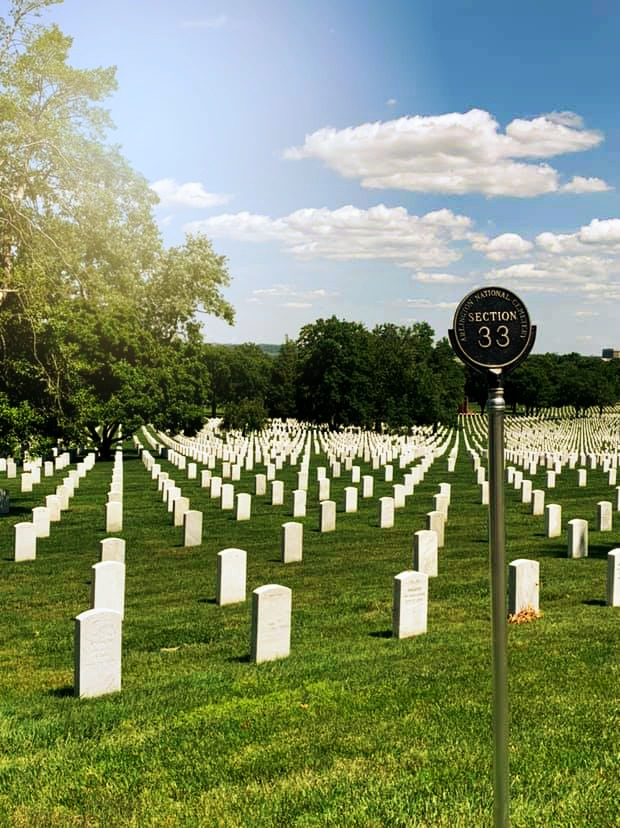 Section 33 at Arlington National Cemetery.
