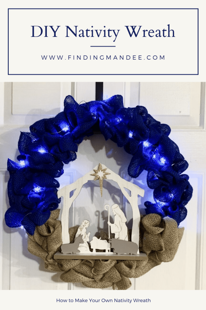 How to Make Your Own Christmas Nativity Wreath | Finding Mandee