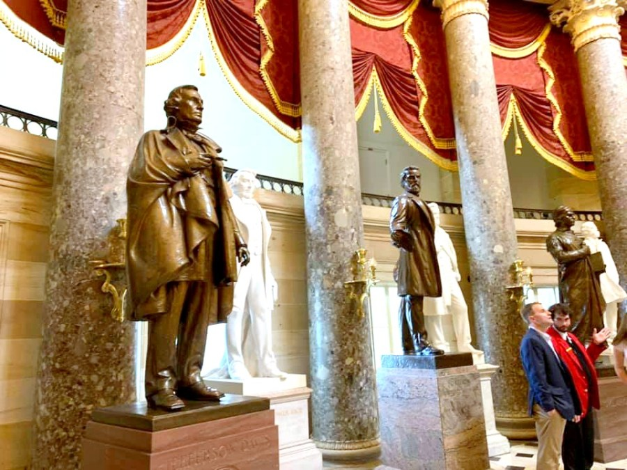 The Statuary Hall in the Capitol Building.