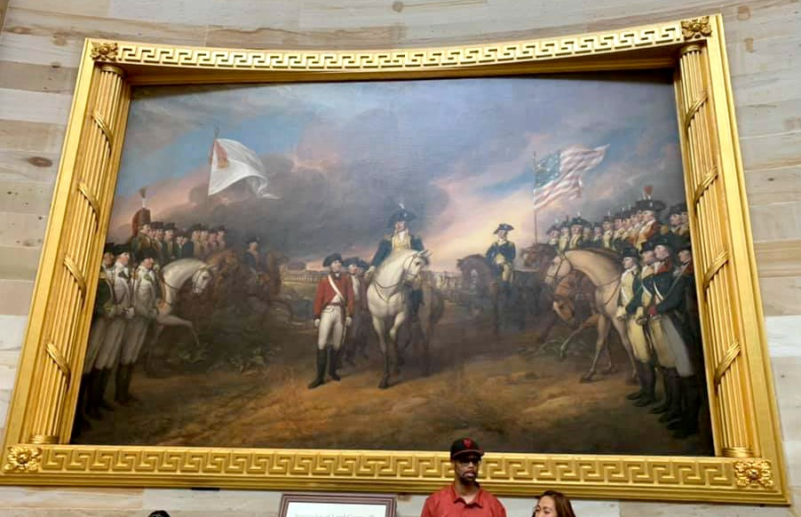 Painting in the Capitol Building.
