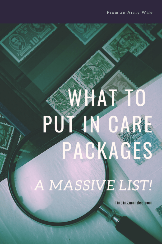 What to Put in Care Packages: A Massive List | Finding Mandee