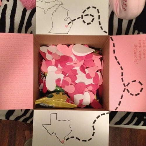 Long-distance relationship care package idea.