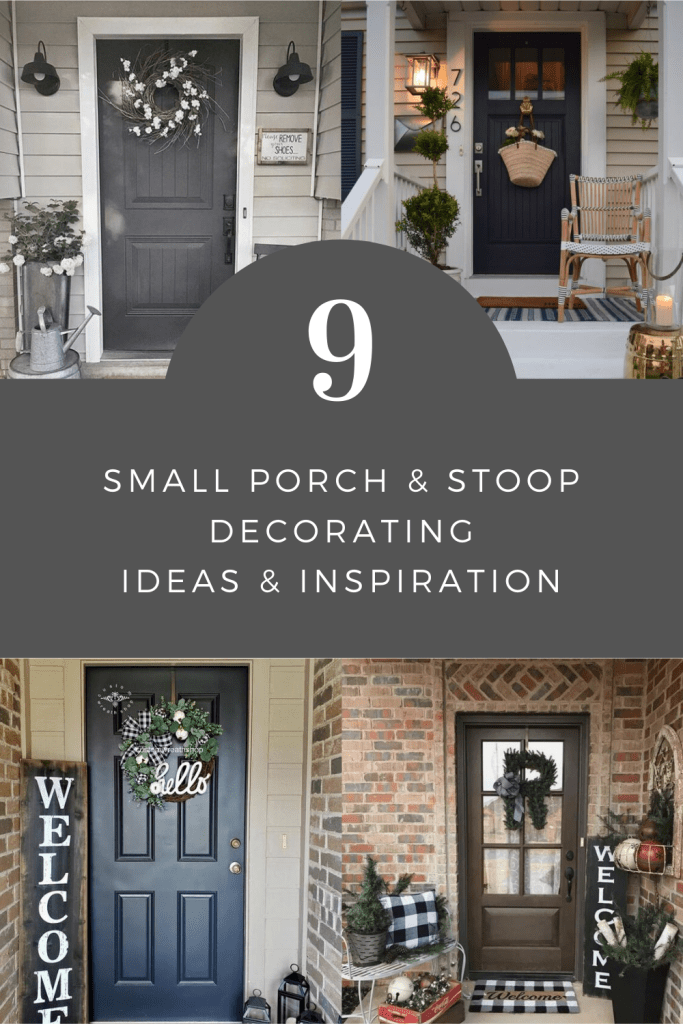 Nine Small Porch and Stoop Decorating Ideas and Inspiration | Finding Mandee