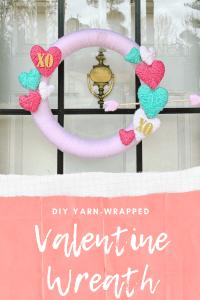 DIY Yarn-Wrapped Valentine's Day Wreath | Finding Mandee