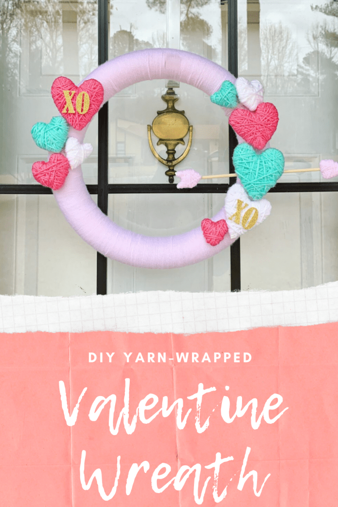 DIY Yarn-Wrapped Valentine's Day Wreath | Finding Mandee