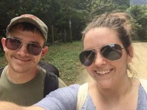 Before our hike at Pico Bonito National Park in Honduras.