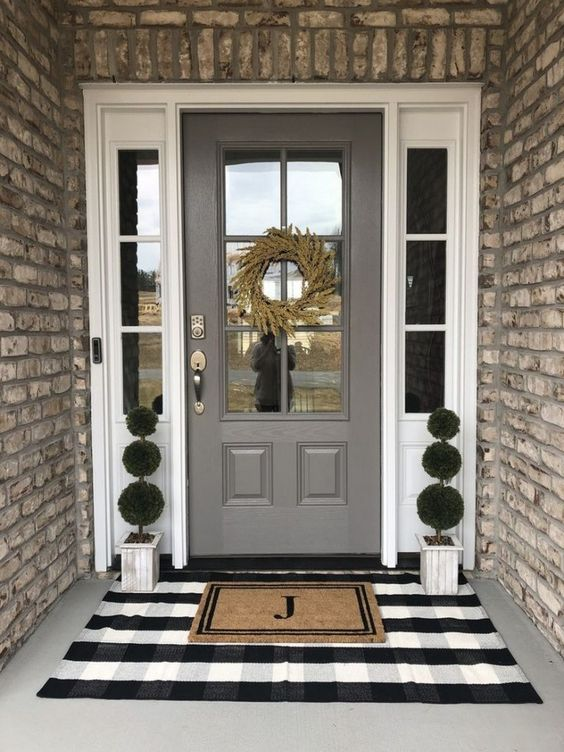 Oversized layered door mats