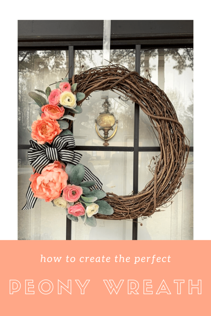 How to Make a Peony Wreath for Your Front Door: Perfect for Spring and Summer | Finding Mandee