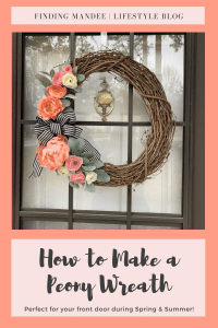 How to Make a Peony Wreath | Finding Mandee