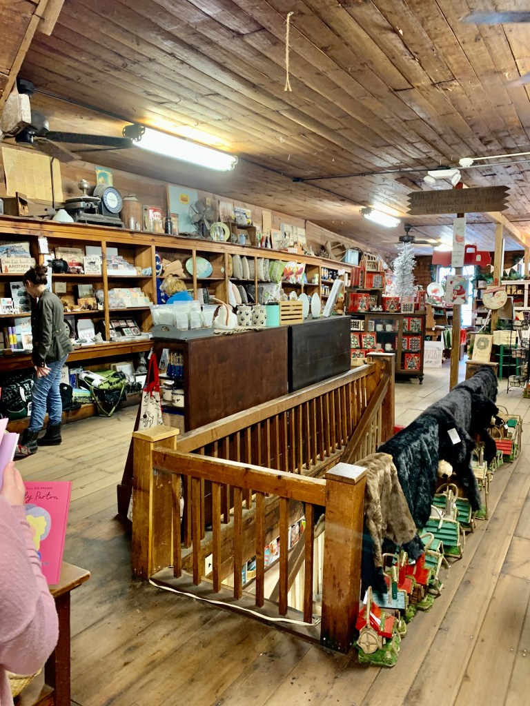 Upstairs at Mast General Store.