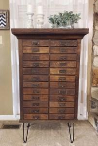 Tutorial for refurbishing a vintage hardware cabinet.