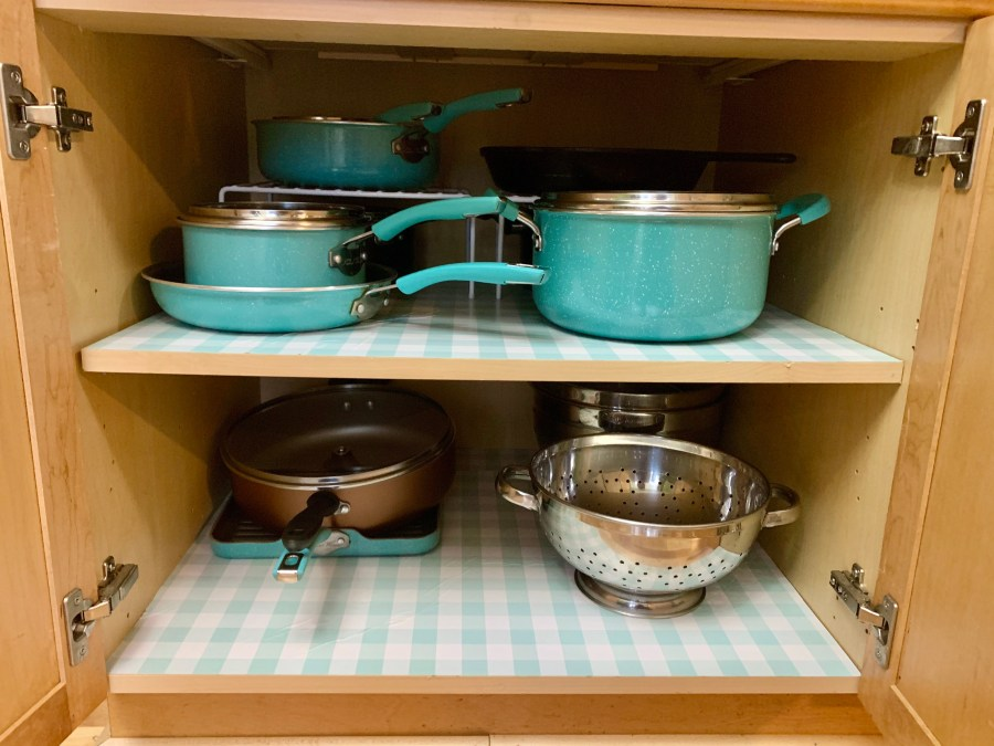 During quarantine, I organized our kitchen cabinets.
